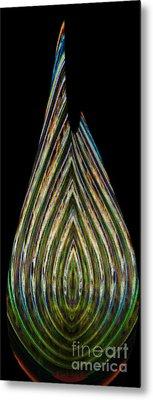 Metal Print featuring the digital art Teardrop by Wendy Wilton