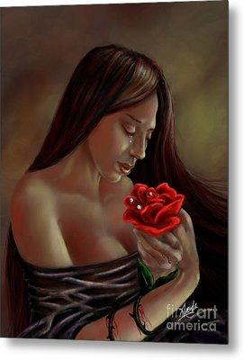 Tears, Blood, Diamonds Metal Print by Amyla Silverflame