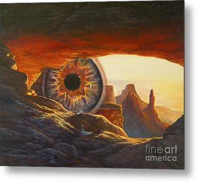 Metal Print featuring the painting Tears For The Earth by Jeanette French