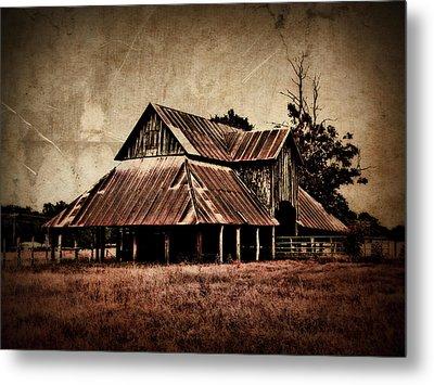 Teaselville Texas Barns Metal Print by Julie Hamilton