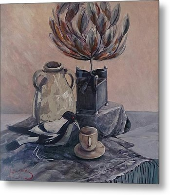 Teatime With Maggie Metal Print