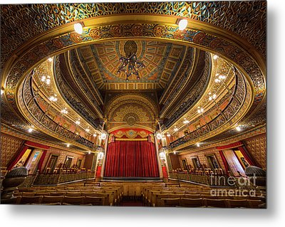 Teatro Juarez Stage Metal Print by Inge Johnsson
