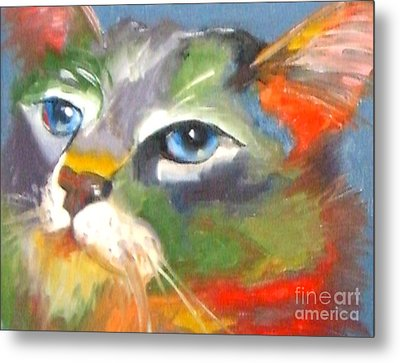 Technicolor Tabby Metal Print by Susan A Becker