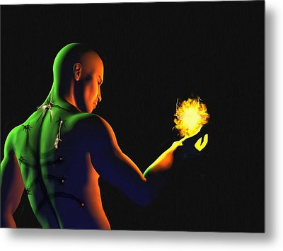 Technomage Uncloaked II Metal Print by Pet Serrano
