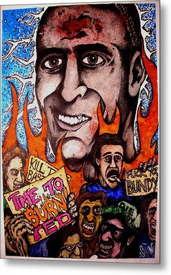 Ted Bundys Last Smile Metal Print by Sam Hane