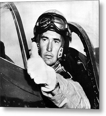 Ted Williams 1918-2002, American Metal Print by Everett