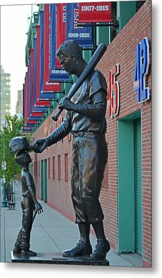 Ted Williams Statue Boston Ma Fenway Park Metal Print by Toby McGuire