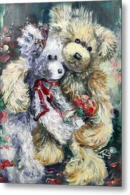 Teddy Bear Honeymooon Metal Print