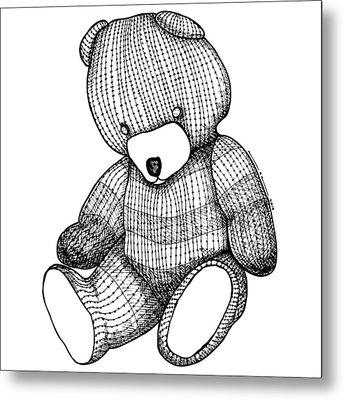 Teddy Bear Metal Print by Karl Addison