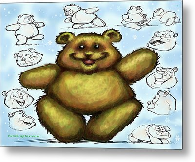 Metal Print featuring the painting Teddy Bear by Kevin Middleton