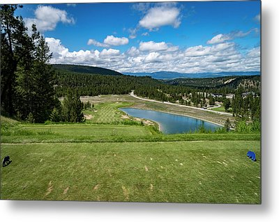 Metal Print featuring the photograph Tee Box With As View by Darcy Michaelchuk