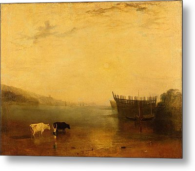 Teignmouth Harbour Metal Print by Joseph Mallord William Turner