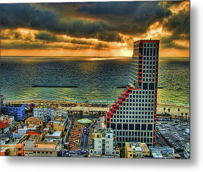 Metal Print featuring the photograph Tel Aviv Lego by Ron Shoshani
