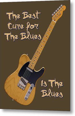 Tele Blues Cure Metal Print