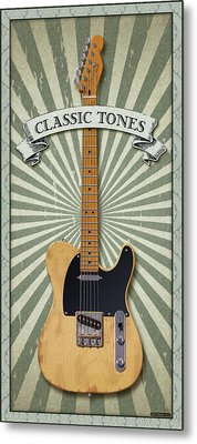 Telecaster Classic Tones Metal Print by WB Johnston