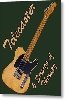 Telecaster Therapy T-shirt Metal Print