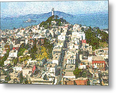 Telegraph Hill San Francisco Metal Print by Art America Online Gallery