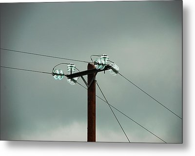Telegraph Lines Metal Print by Charlie and Norma Brock