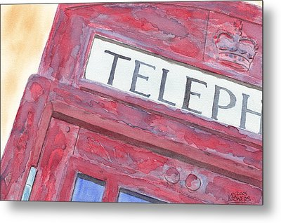 Telephone Booth Metal Print by Ken Powers