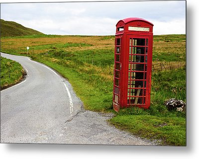 Metal Print featuring the photograph Telephone Booth On Isle Of Skye by Davorin Mance