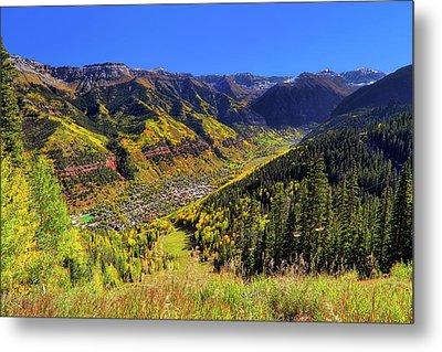 Telluride In Autumn - Colorful Colorado - Landscape Metal Print by Jason Politte