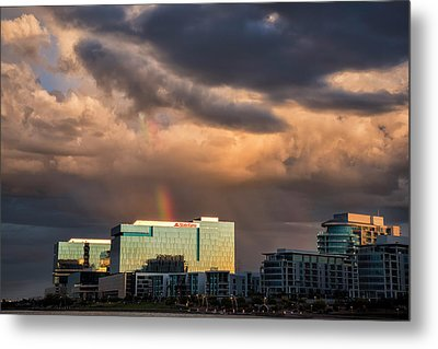 Metal Print featuring the photograph Tempe Town Lake Rainbow by Dave Dilli