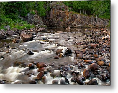 Temperance River Metal Print by Steve Stuller