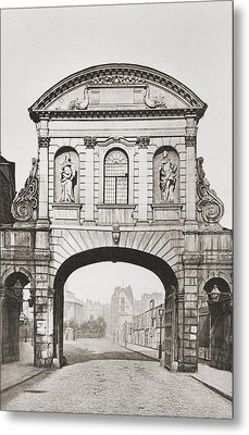 Temple Bar, London England, Removed In Metal Print