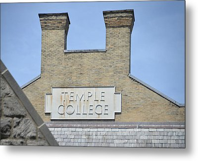 Temple College Metal Print by Bill Cannon