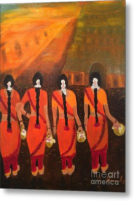Temple Dancers Metal Print by Brindha Naveen