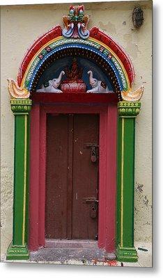 Temple Door Metal Print by Deepak Pawar