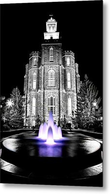 Temple Fountain  Metal Print by David Andersen