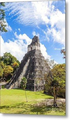 Temple I Of The Jaguar - Mayan Ruins Of Tikal - Guatemala Metal Print