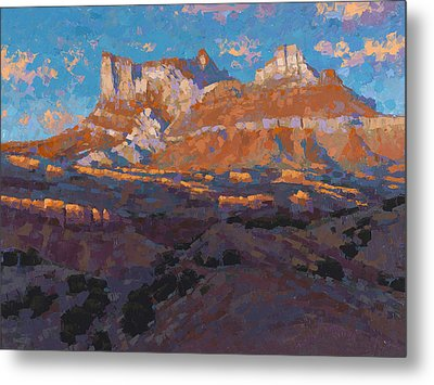 Temple Mountain Tapestry Metal Print