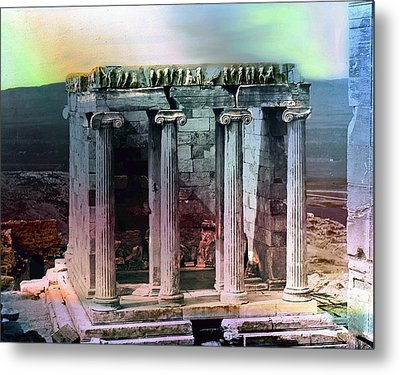 Metal Print featuring the photograph Temple Of Athena by Robert G Kernodle