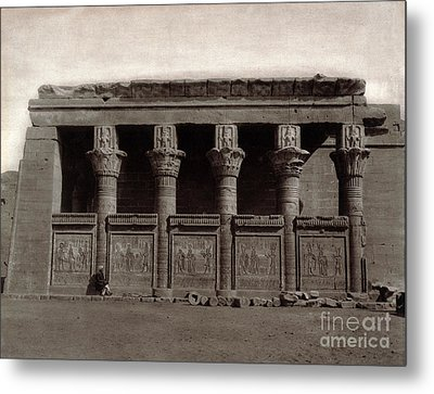 Temple Of Hathor, Early 20th Century Metal Print by Science Source