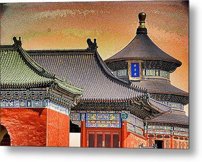 Temple Of Heaven Metal Print by Dennis Cox ChinaStock