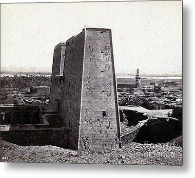 Temple Of Horus At Edfu, 1850s Metal Print