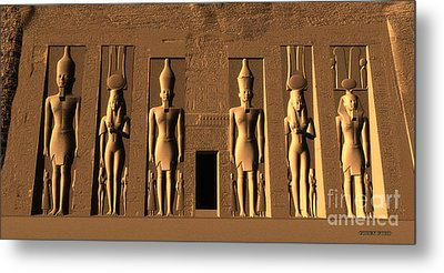 Temple Of Nefertari Metal Print by Corey Ford