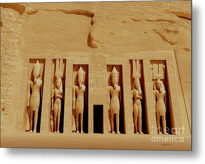 Temple Of Nefertiti Metal Print by Corey Ford