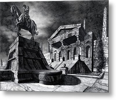 Temple Of Perseus Metal Print by Curtiss Shaffer