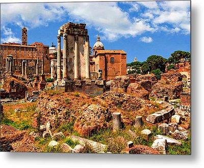 Temple Of Vesta Metal Print by Anthony Dezenzio