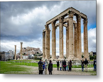 Temple Of Zeus And Acropolis - Athens Greece 2 Metal Print by Debra Martz