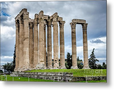 Temple Of Zeus - Athens Greece Metal Print by Debra Martz