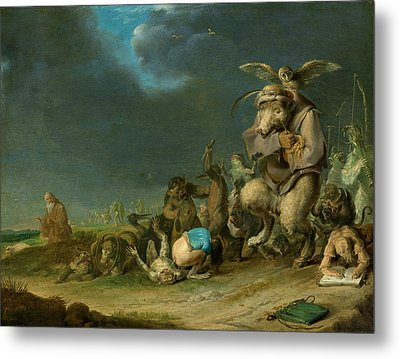 Temptation Of Saint Anthony Metal Print by Cornelis Saftleven