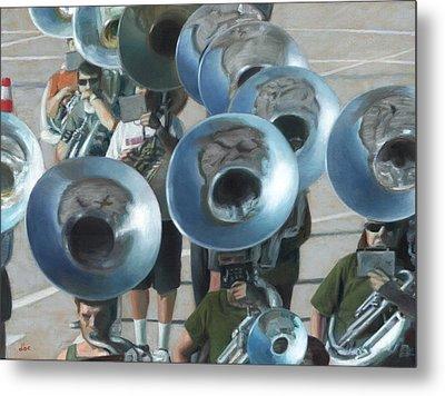 Ten Tubas Metal Print by David Clemons