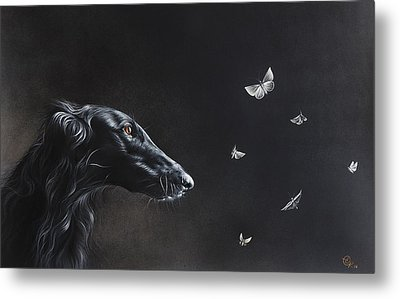 Metal Print featuring the drawing Tender Is The Night by Elena Kolotusha