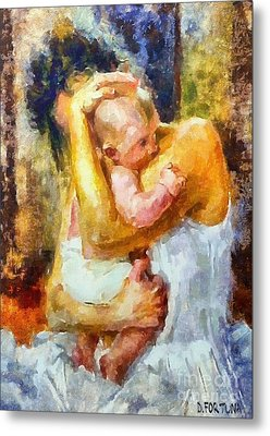 Tender Moment Metal Print by Dragica  Micki Fortuna