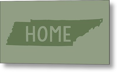 Metal Print featuring the digital art Tennessee Home Green by Heather Applegate