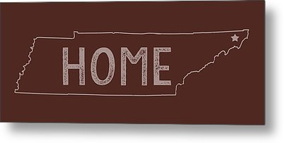Metal Print featuring the digital art Tennessee Home by Heather Applegate